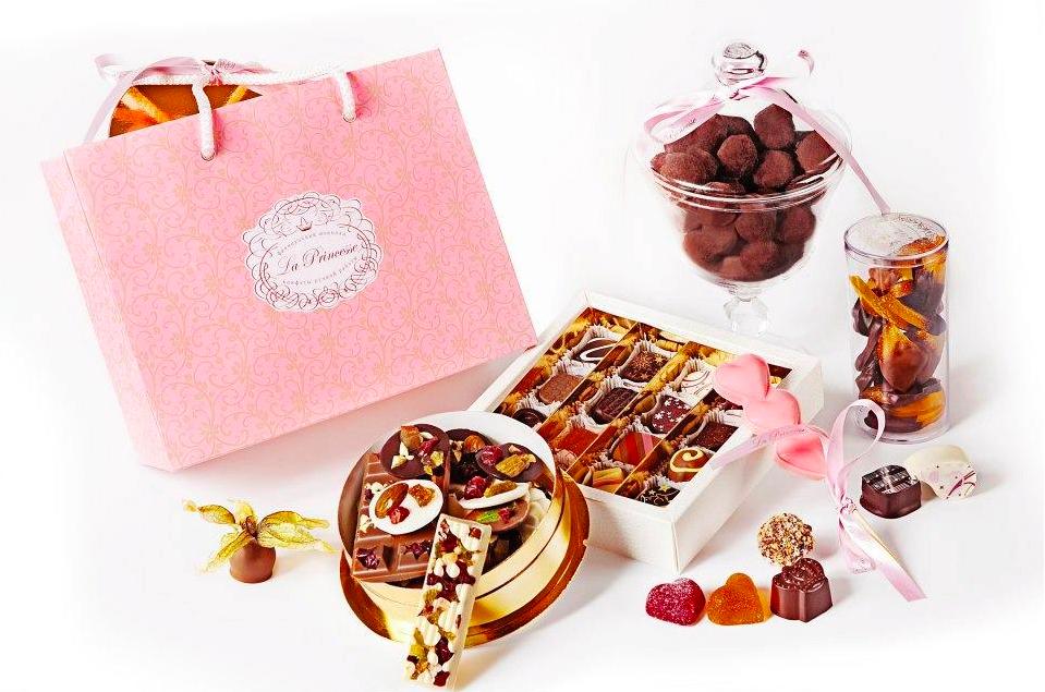 Подарочный набор шоколадных конфет ручной работы от La princesse Choco