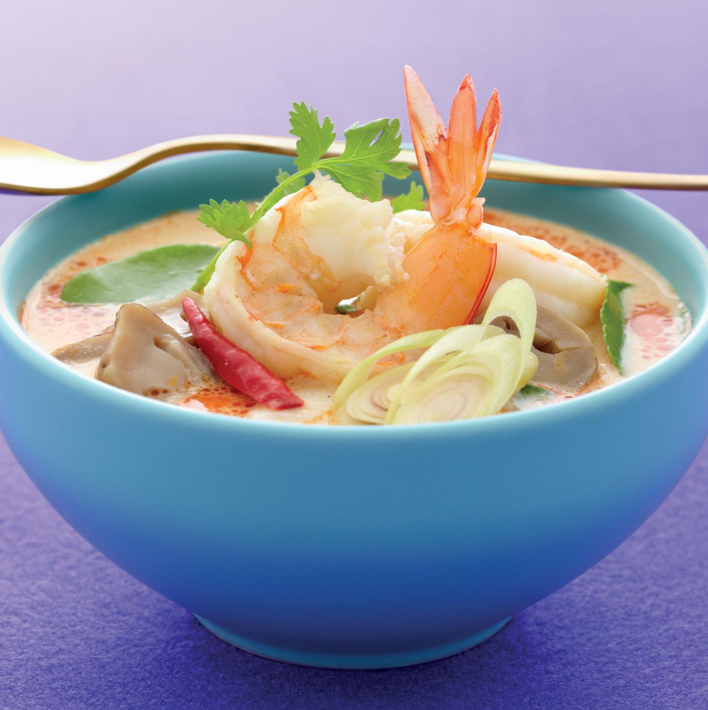 Рецепт тайской кухни - острый креветочный суп