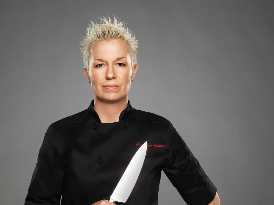 Chef Elizabeth Falkner as seen on Food Network's, Next Iron Chef Season 5