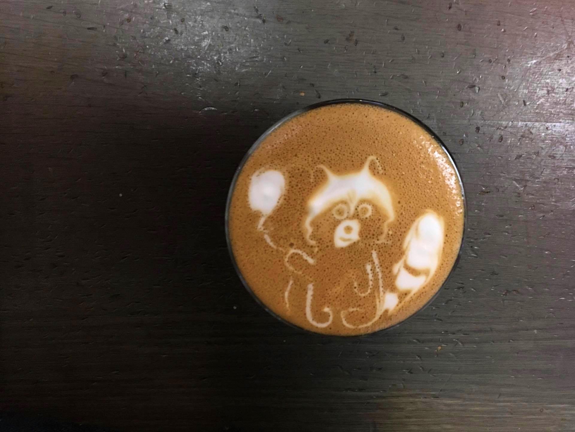 Милые рисунки на кофе