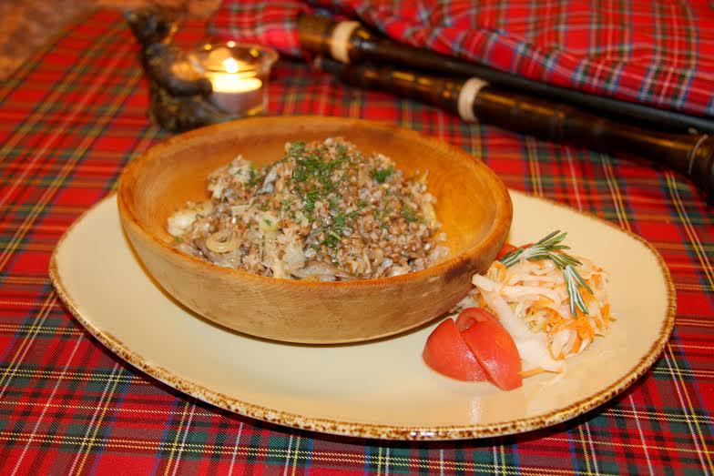 Рецепт шотландской кухни - каша гречневая с грибами