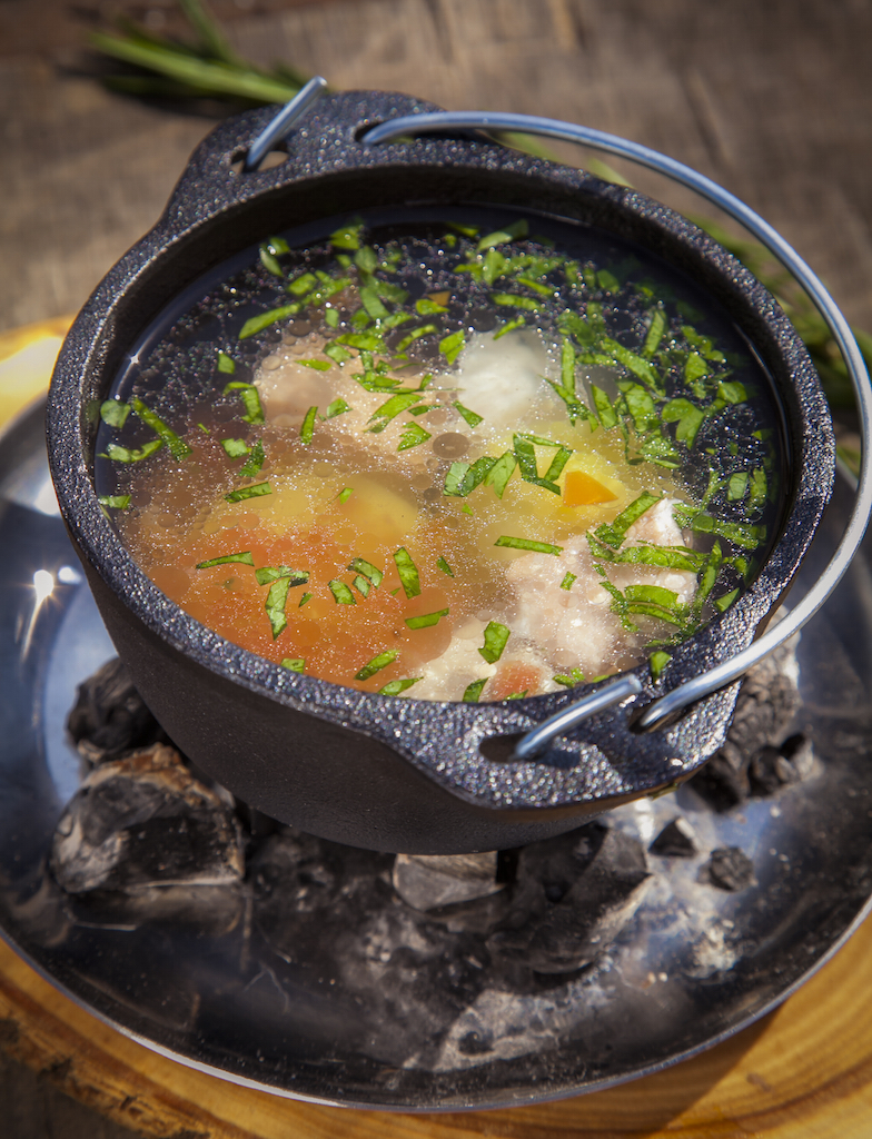 Рецепт ухи из лосося и трески