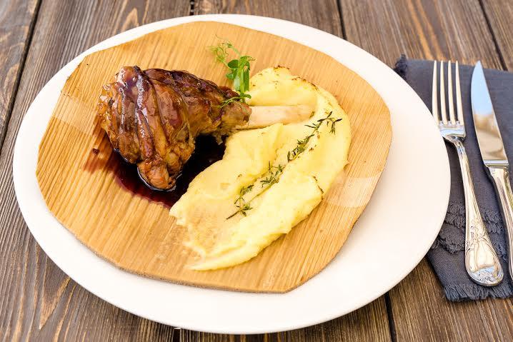 Рецепт бараньей рульки с картофельным пюре