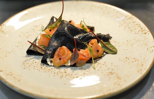 Рецепт блинов с чернилами каракатицы