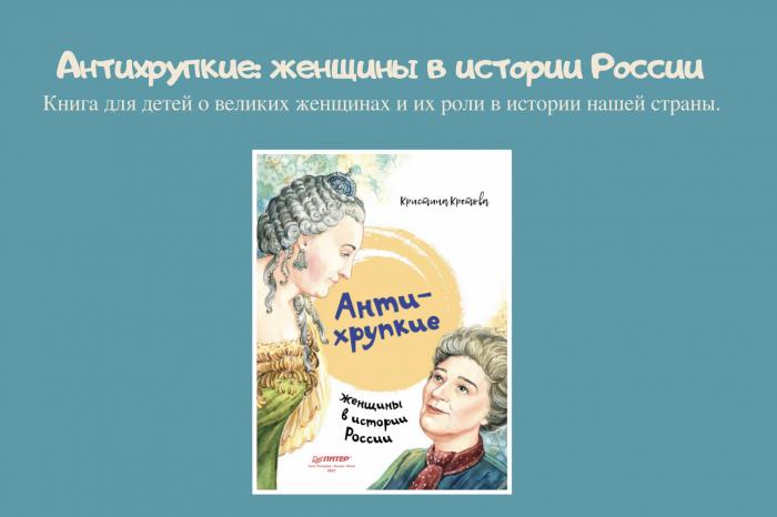Книга Кристины Кретовой «Антихрупкие: женщины в истории России».
